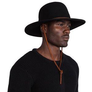 Brixton Accessories - Brixton Unisex Tiller Wide Brim Felt Fedora Hat 6ccc43b1739